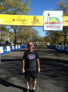 At the start line of the New Jersey Marathon: May 4, 2012