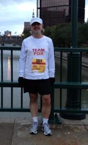 At the start line of the Rochester Marathon, September 22, 2013.
