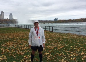 Post race, Niagara Falls International Marathon, October 26, 2014