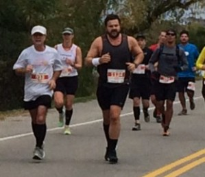 Running with Lloyd, Niagara Falls International Marathon, October 26, 2014