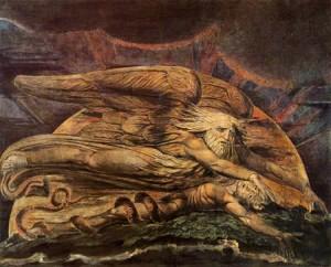 William Blake (1757-1827): Elohim Creating Adam, c. 1795
