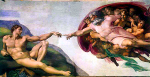 Michelangelo (1475 - 1564): God Creating Adam, c. 1512