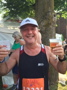 Celebrating a PR and finishing my sixth Boilermaker. July 12, 2015.