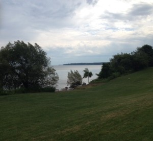 Lake Ontario looking across Irondequoit Bay from Durand-Eastman Park